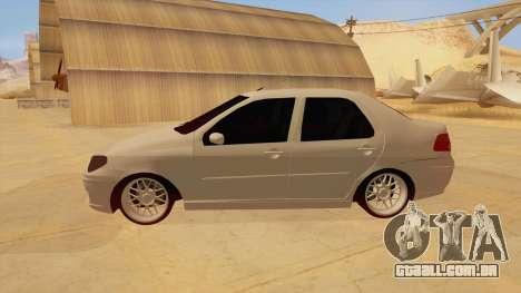 Fiat Albea para GTA San Andreas esquerda vista
