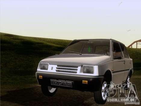 VAZ 1111 Oka Sedan para GTA San Andreas vista traseira
