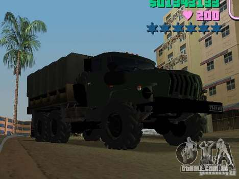 Ural 4320 para GTA Vice City deixou vista