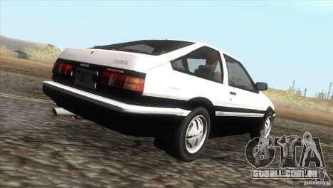 Toyota Sprinter Trueno AE86 GT-Apex para GTA San Andreas vista direita