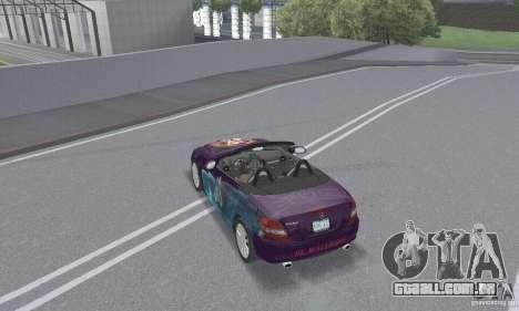 Mercedes-Benz SLK 350 para o motor de GTA San Andreas