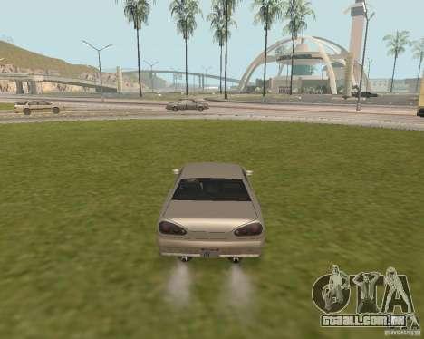 Carro de saída de emergência para GTA San Andreas terceira tela