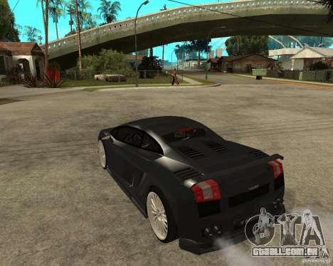 Lamborghini Gallardo HAMANN Tuning para GTA San Andreas esquerda vista