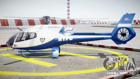 Eurocopter EC 130 NYPD para GTA 4 esquerda vista