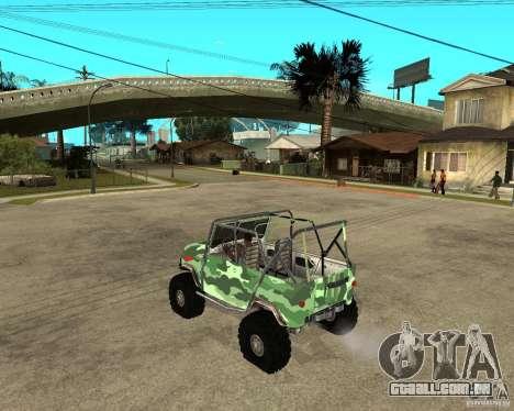UAZ 469 HUNTER para GTA San Andreas esquerda vista