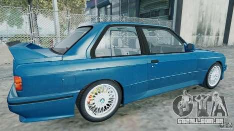 BMW M3 E30 FINAL para GTA 4 esquerda vista