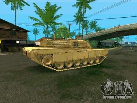 M1A2 Abrams de COD4: MW para GTA San Andreas esquerda vista