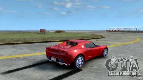 Lotus Elise para GTA 4 esquerda vista