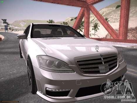 Mercedes Benz S65 AMG 2012 para GTA San Andreas esquerda vista