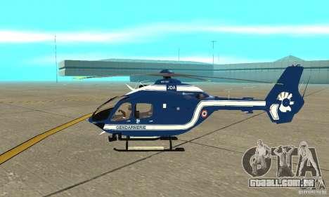 EC-135 Gendarmerie para GTA San Andreas traseira esquerda vista