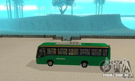 MetroBus of Venezuela para GTA San Andreas traseira esquerda vista