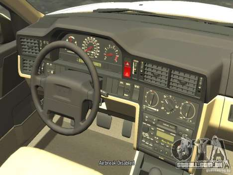 Volvo 850 R 1996 Rims 2 para GTA 4 vista interior