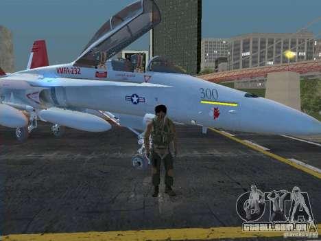 FA-18D Hornet para GTA San Andreas traseira esquerda vista