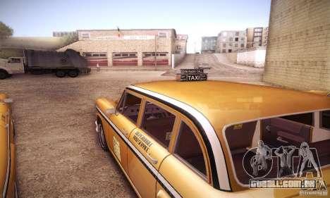 Cabbie HD para GTA San Andreas vista traseira