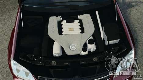 Mercedes-Benz ML63 (AMG) 2009 para GTA 4 vista inferior