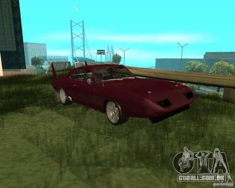 Dodge Charger Daytona para GTA San Andreas esquerda vista