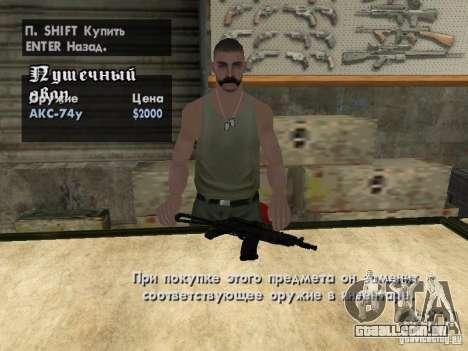 Armas de Pak domésticos para GTA San Andreas décimo tela