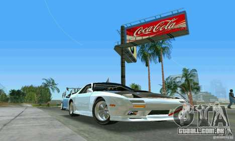 Mazda Savanna RX-7 FC3S para GTA Vice City vista traseira