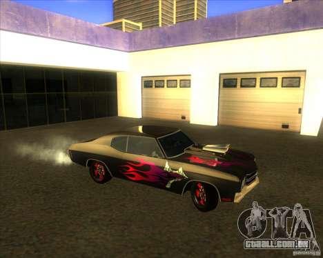 Chevy Chevelle SS Hell 1970 para GTA San Andreas esquerda vista