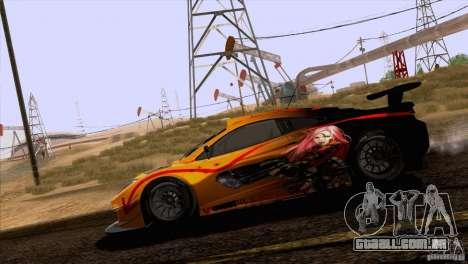 Pintura funciona McLaren MP4-12 c Speedhunters para GTA San Andreas vista interior