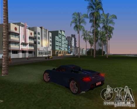 Porsche Carrera GT para GTA Vice City vista traseira esquerda
