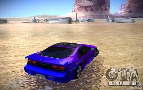 Nissan 300ZX Twin Turbo para GTA San Andreas vista superior