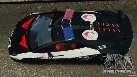 Lamborghini Sesto Elemento 2011 Police v1.0 RIV para GTA 4 vista direita