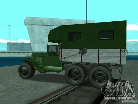 GAZ-AAA para GTA San Andreas esquerda vista