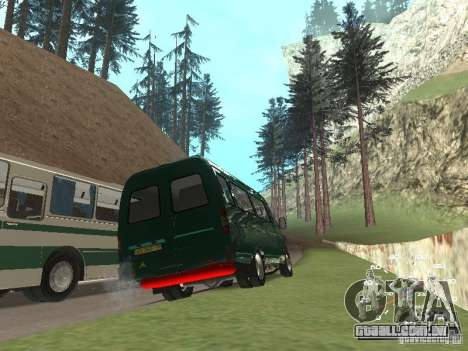 GAZ 32213 para GTA San Andreas vista traseira