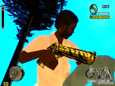 Tiger wepon pack para GTA San Andreas terceira tela