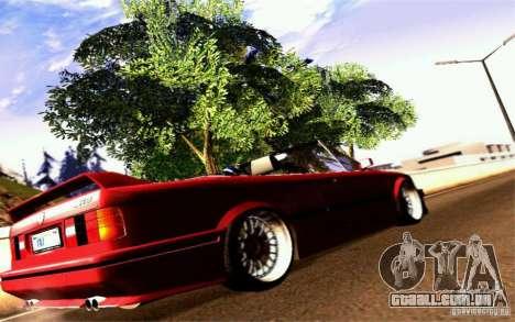 BMW E30 M3 Cabrio para GTA San Andreas vista direita