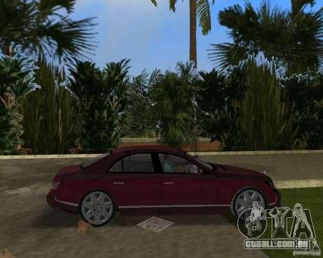 Maybach 57 para GTA Vice City vista traseira
