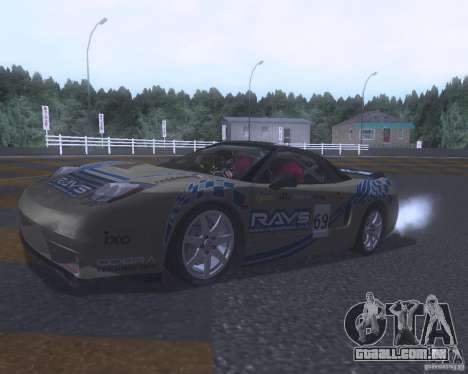 Honda NSX Japan Drift para GTA San Andreas vista inferior