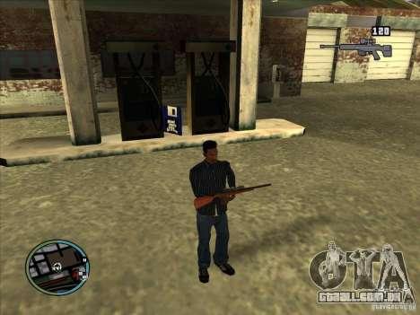 SA IV WEAPON SCROLL 2.0 para GTA San Andreas por diante tela