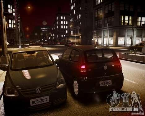 Volkswagen Fox 2011 para GTA 4 vista interior