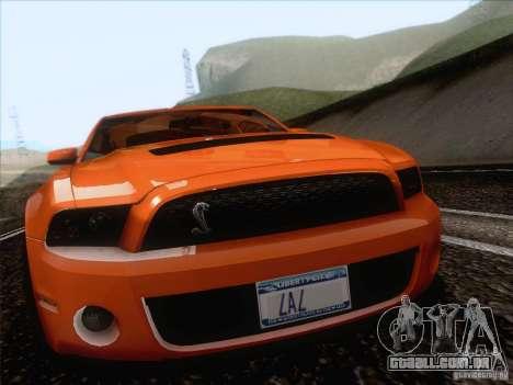 Ford Shelby Mustang GT500 2010 para GTA San Andreas vista traseira