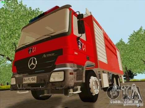 Mercedes Benz Actros Bomberos C1 para GTA San Andreas vista interior