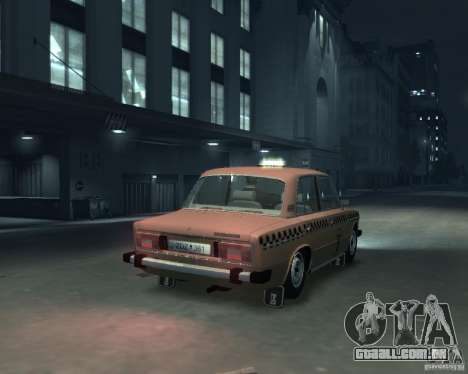 Táxi de 2106 VAZ para GTA 4 vista de volta