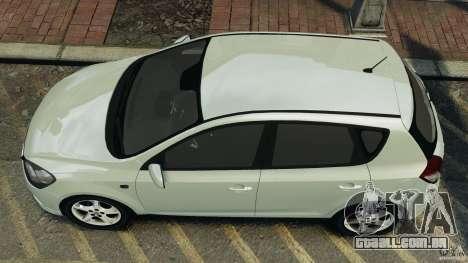 Kia Ceed 2011 para GTA 4 vista direita
