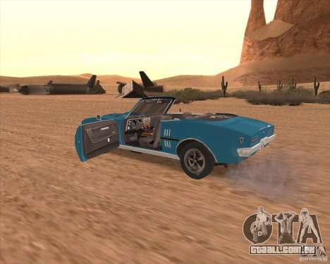 Pontiac Firebird Conversible 1966 para vista lateral GTA San Andreas