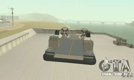 Landing Craft Air Cushion para GTA San Andreas vista direita