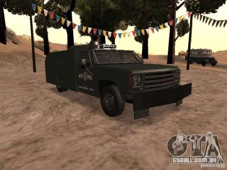 GMC SIERRA 3500 para GTA San Andreas vista interior