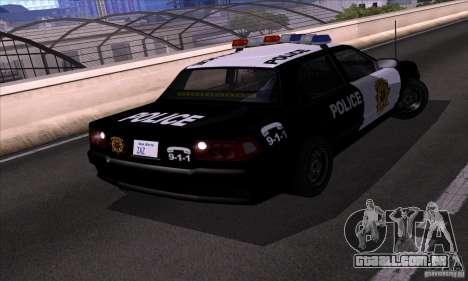 NFS Undercover Police Car para GTA San Andreas vista direita