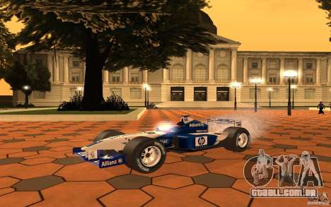 BMW F1 Williams para GTA San Andreas esquerda vista