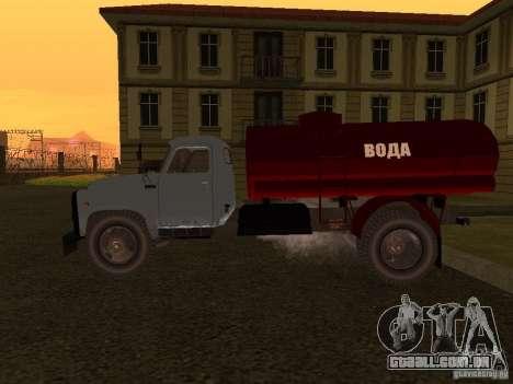 GAZ-53 transportadora de água para GTA San Andreas esquerda vista