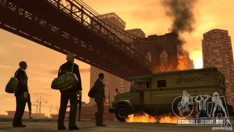 Imagens de inicialização no estilo do GTA IV para GTA San Andreas quinto tela
