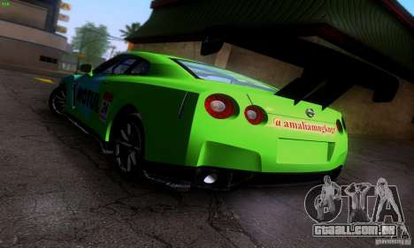 Nissan GTR R35 Tuneable para GTA San Andreas vista inferior