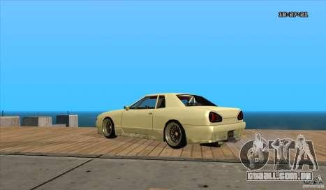 Elegy Drift Style para GTA San Andreas esquerda vista