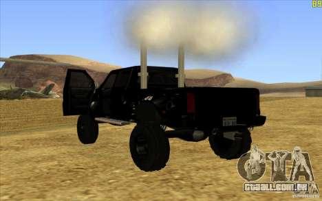 GMC Topkick Ironhide TF3 para GTA San Andreas traseira esquerda vista