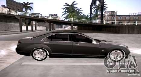 Mercedes-Benz S600 v12 para GTA San Andreas esquerda vista